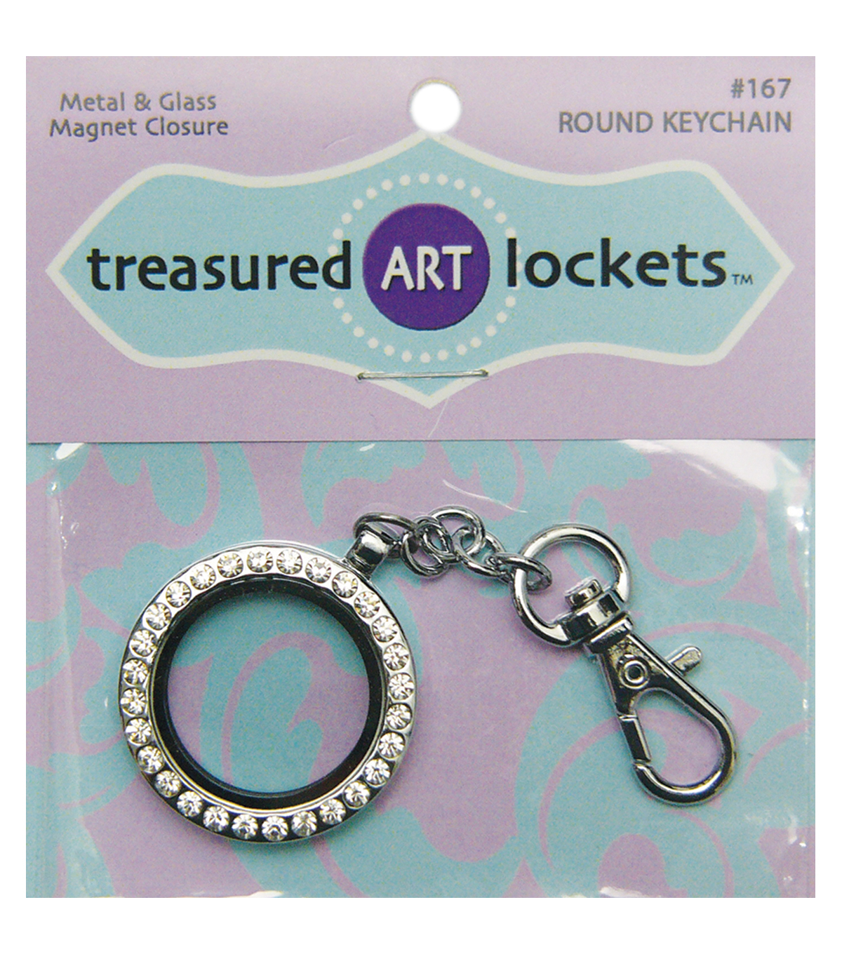 Quilled Creations Silver Round Keychain