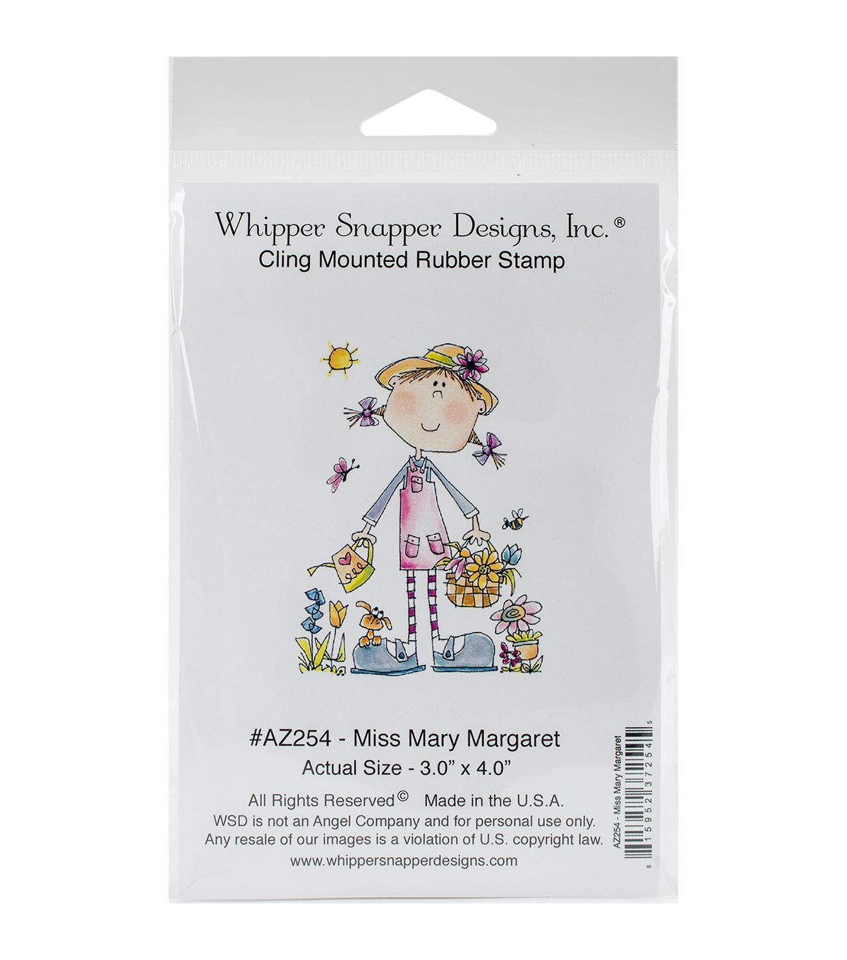 Whipper Snapper Designs Cling Stamp-Miss Mary Margaret