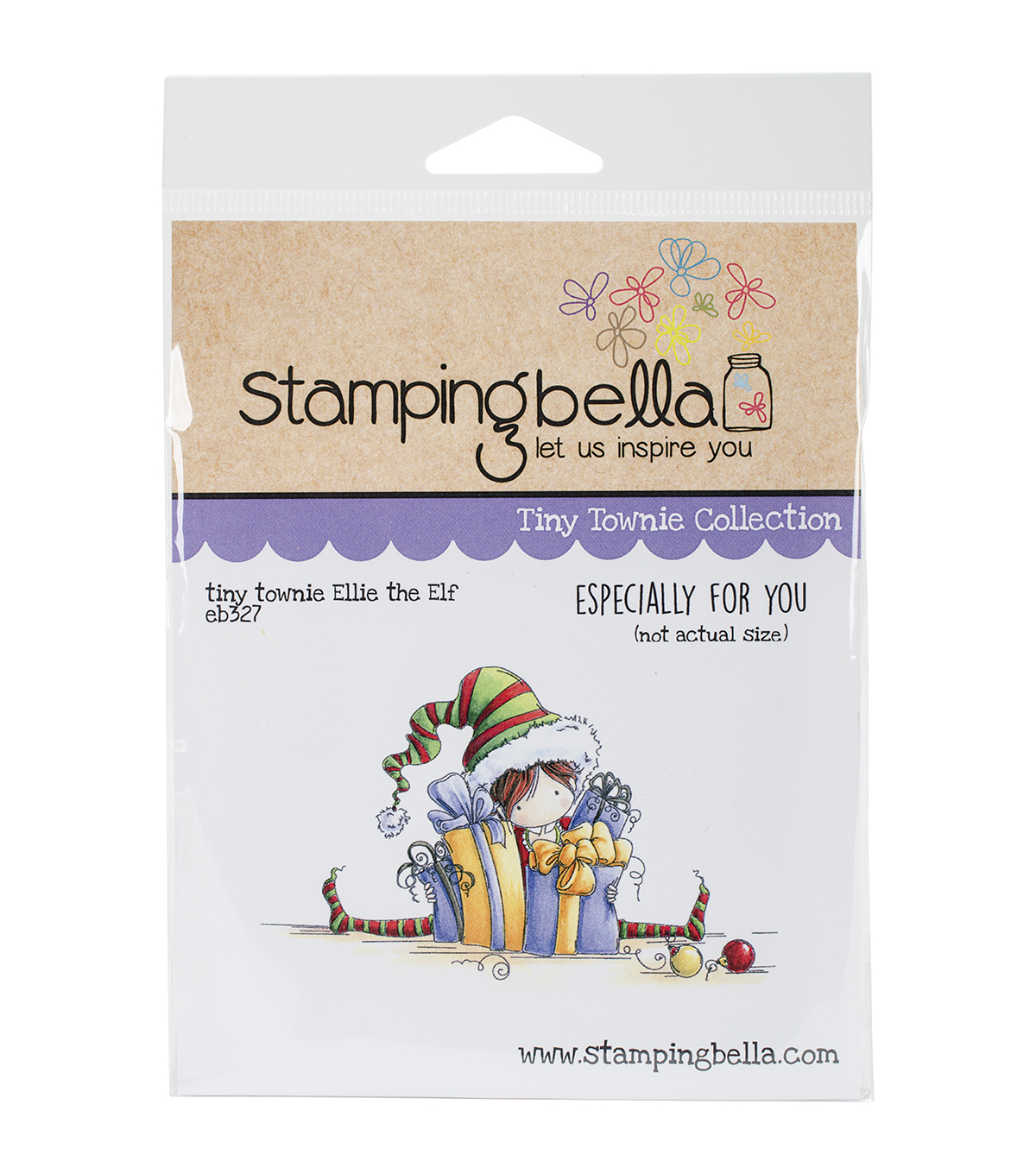 Stamping Bella Cling Stamp-Tiny Townie Ellie The Elf