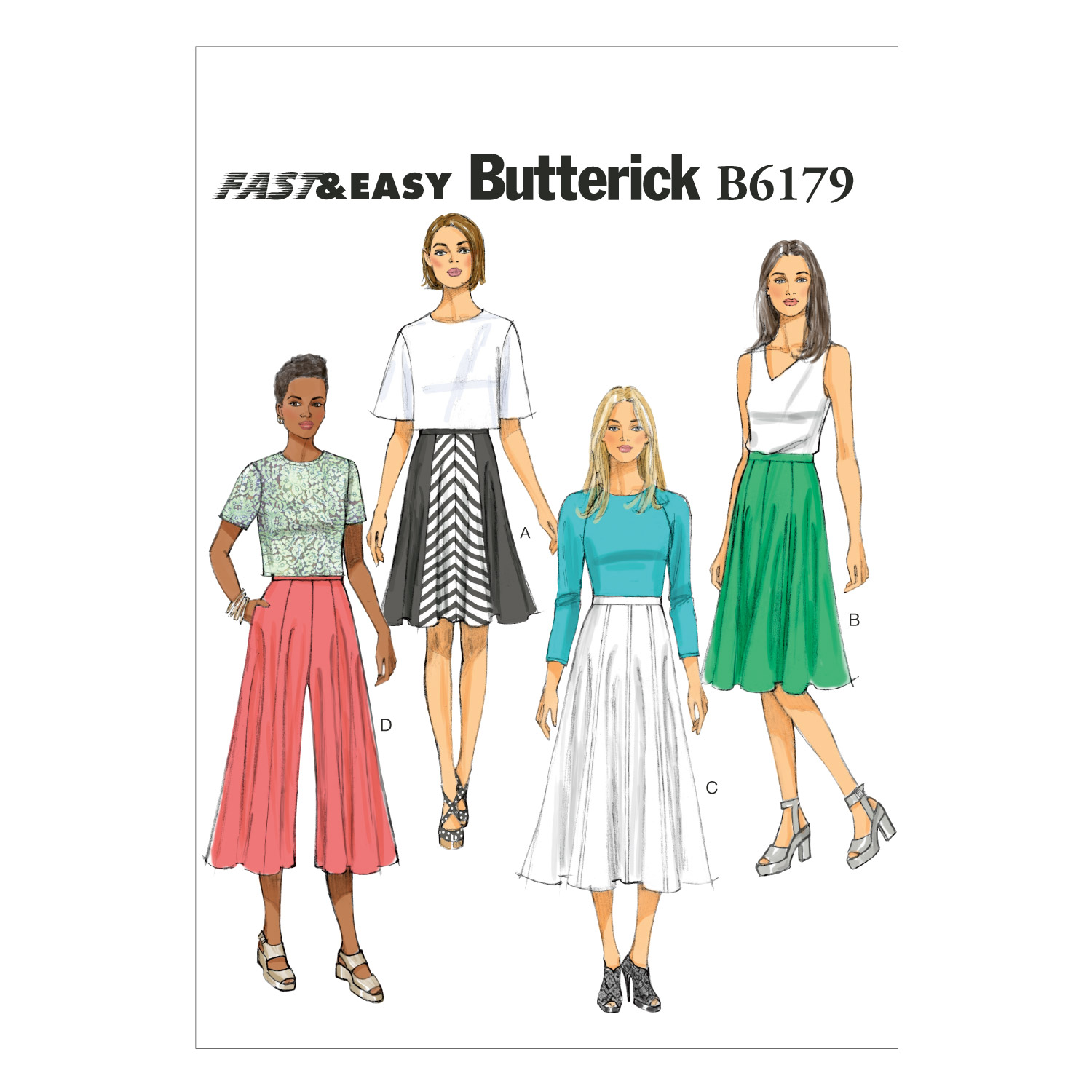 Butterick Misses Skirt-B6179