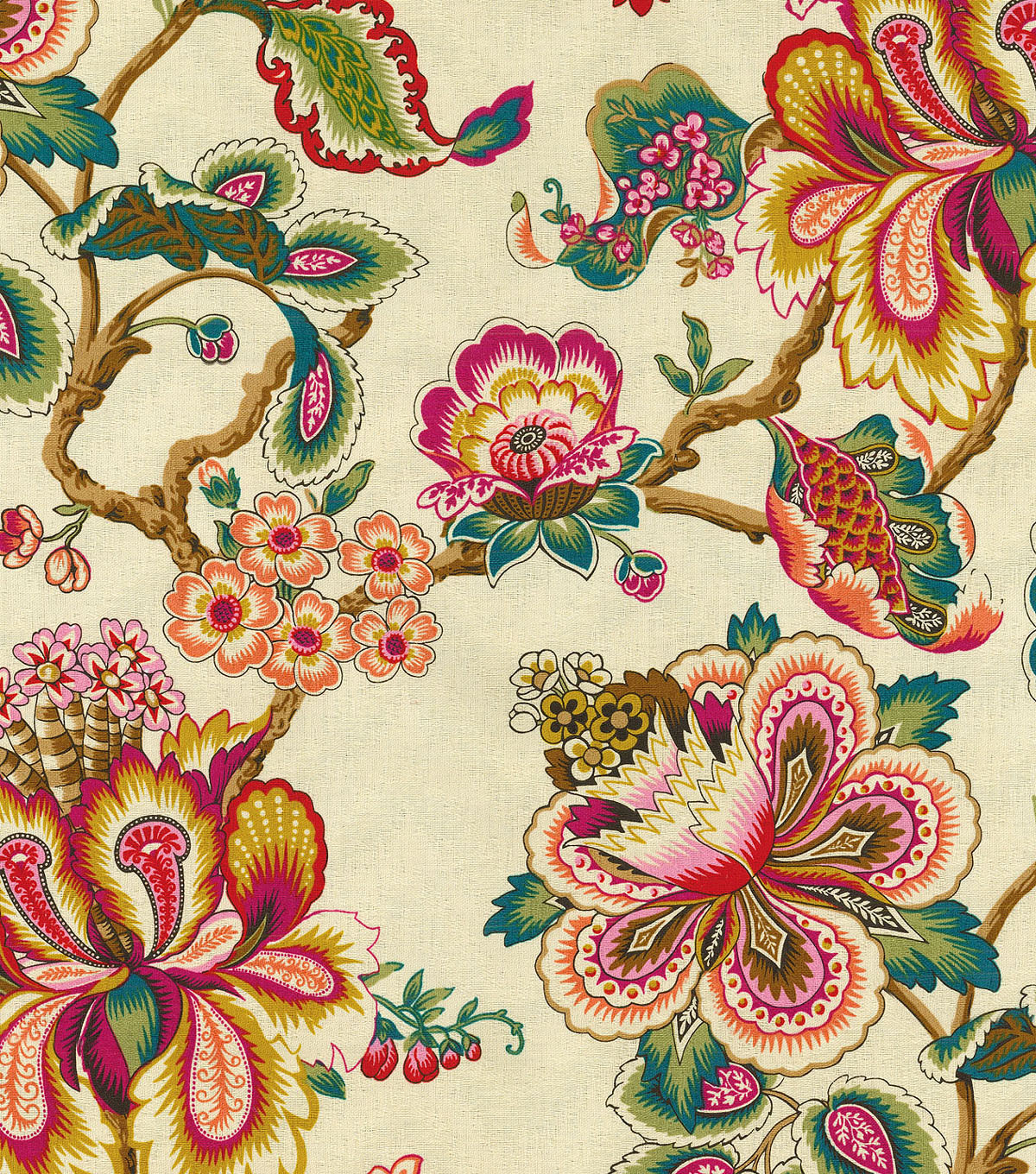 "HGTV Home Print Fabric 54""-Bespoke Blossoms/Sunset"