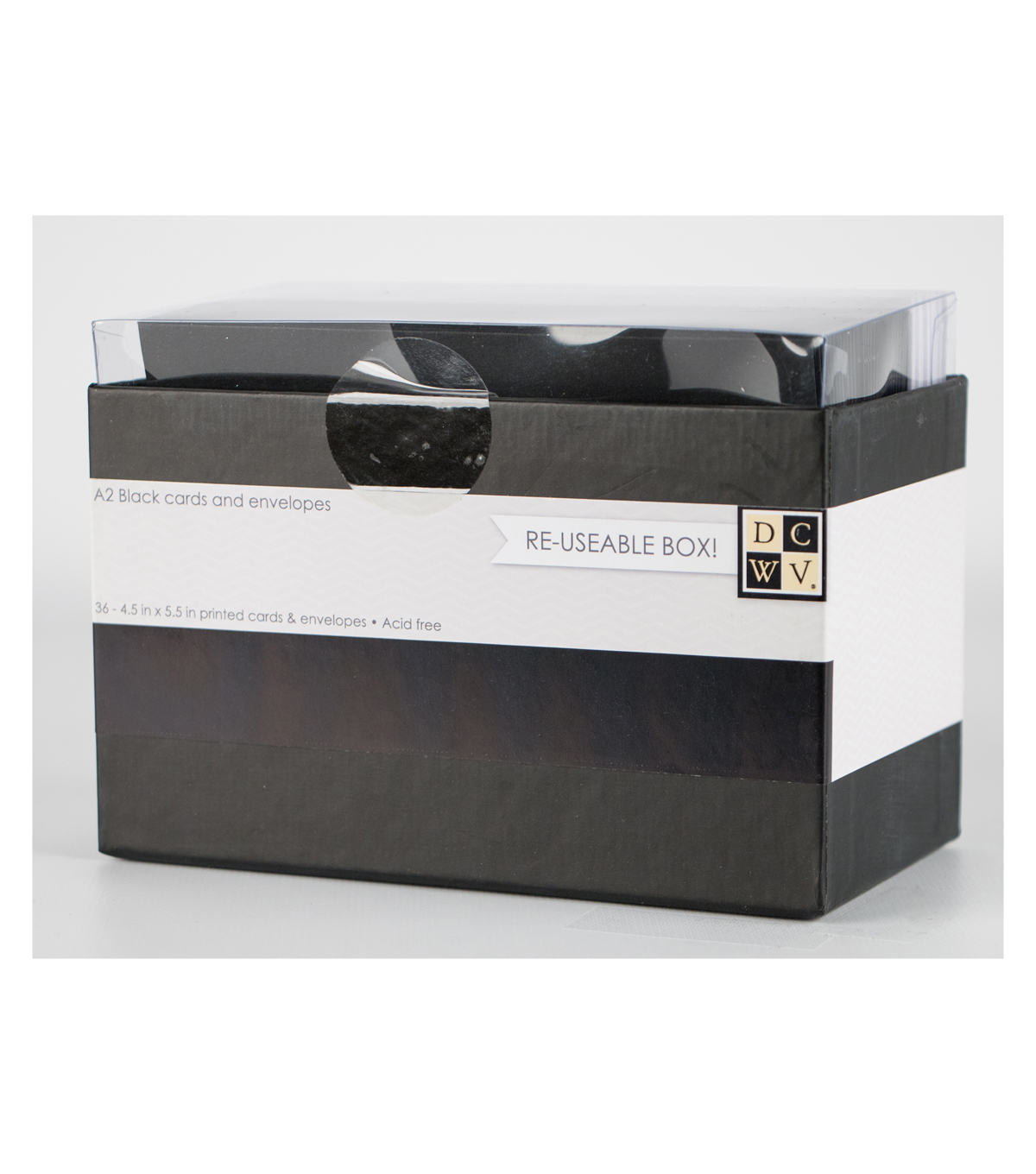 DCWV A2 Box of cards and envelopes: Black