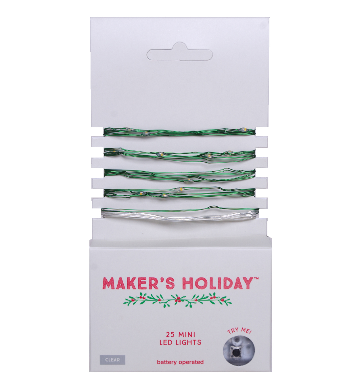 Maker\u0027s Holiday 25ct Battery Operated Mini LED Lights-Clear