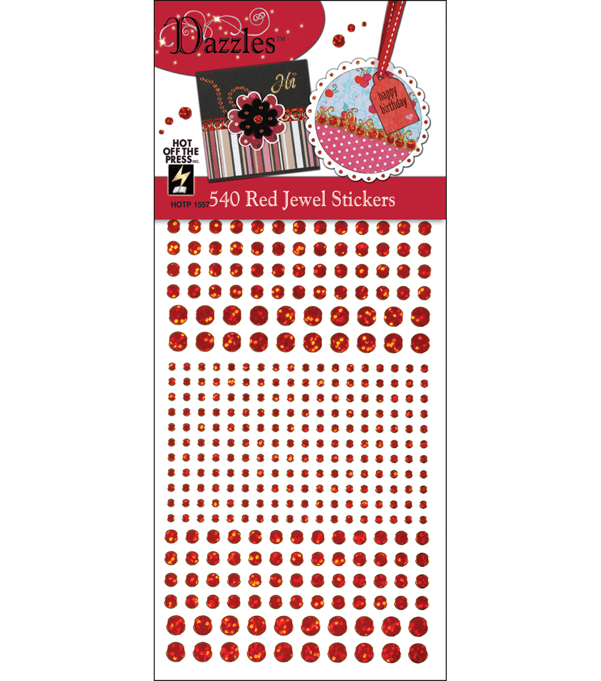 Hot off the Press Dazzles Stickers-540 Red Jewel