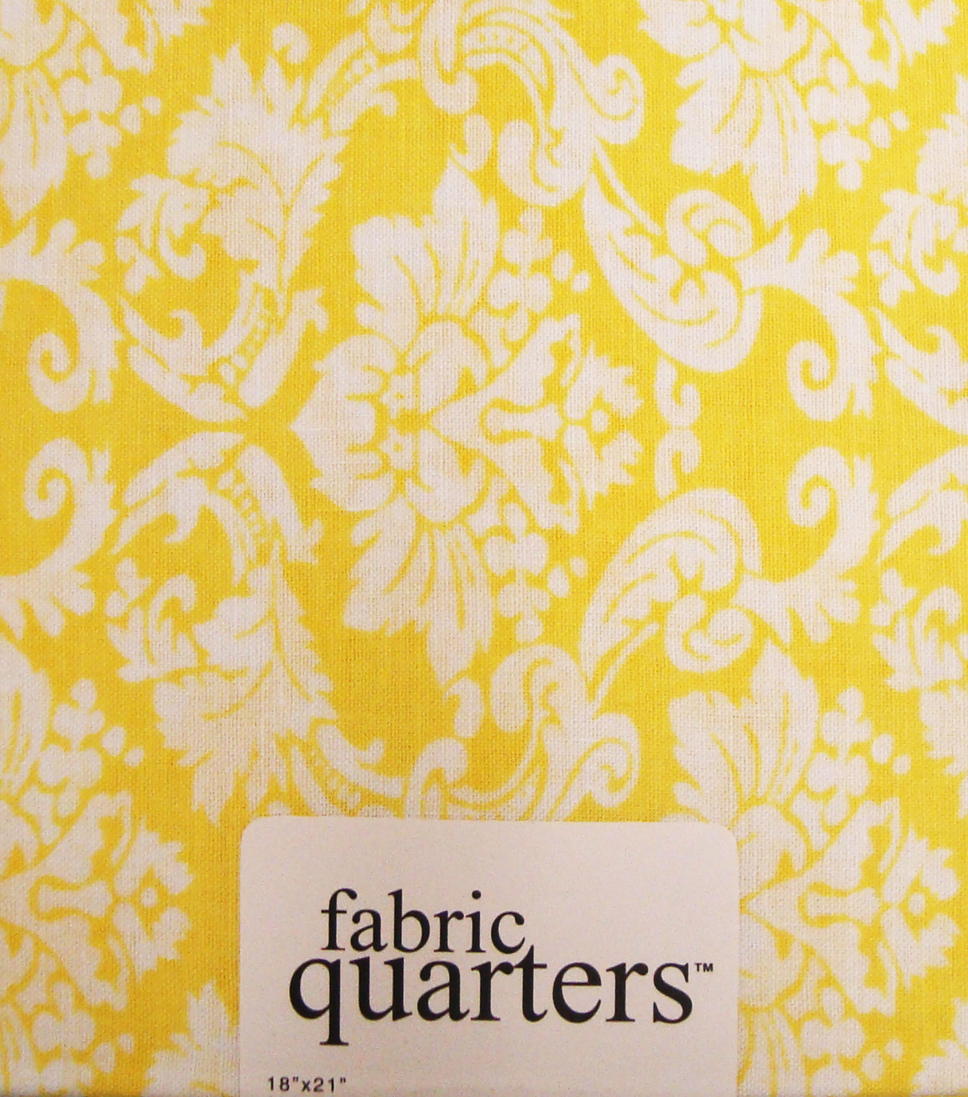 Fabric-Quarters Assorted Fabric-Yellow