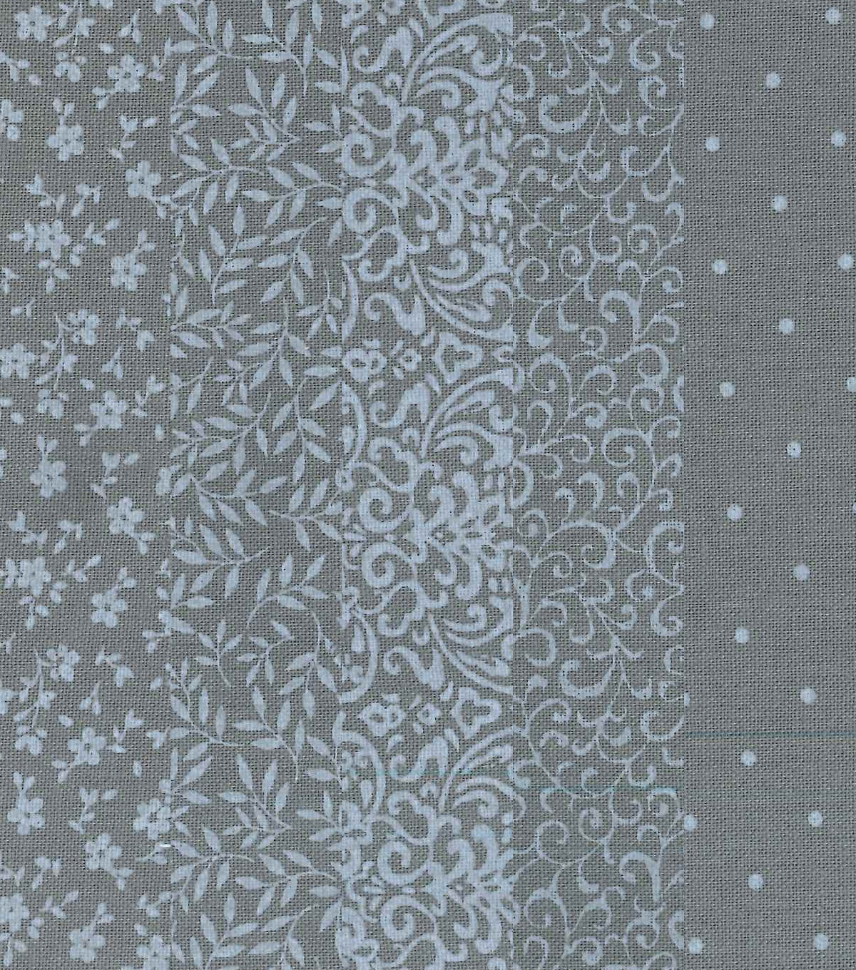 Fat Quarter Bundle Cotton Fabric 5-Pieces-Assorted Dark Gray Patterns