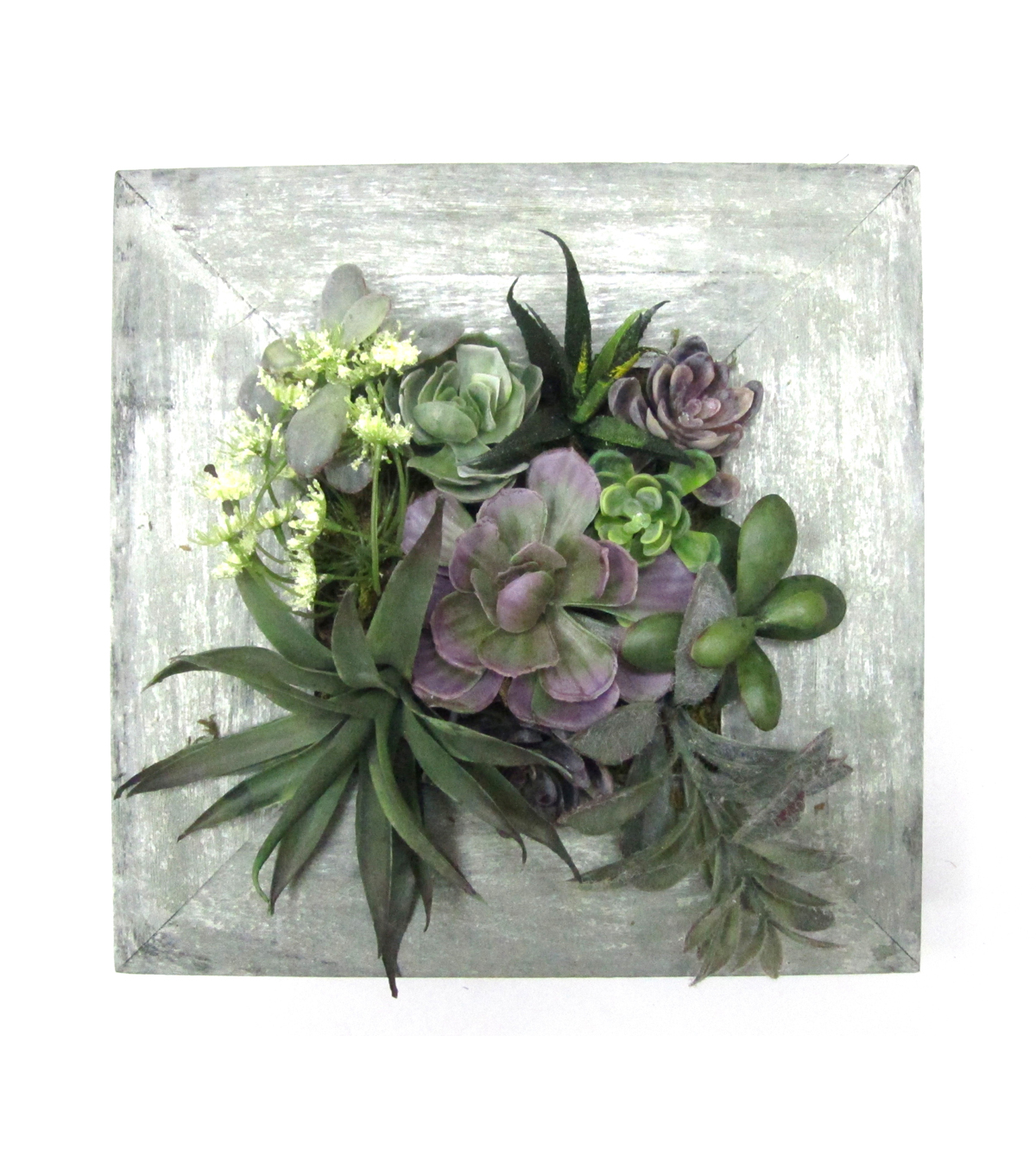 Bloom Room Succulent Wall piece-Green & Purple
