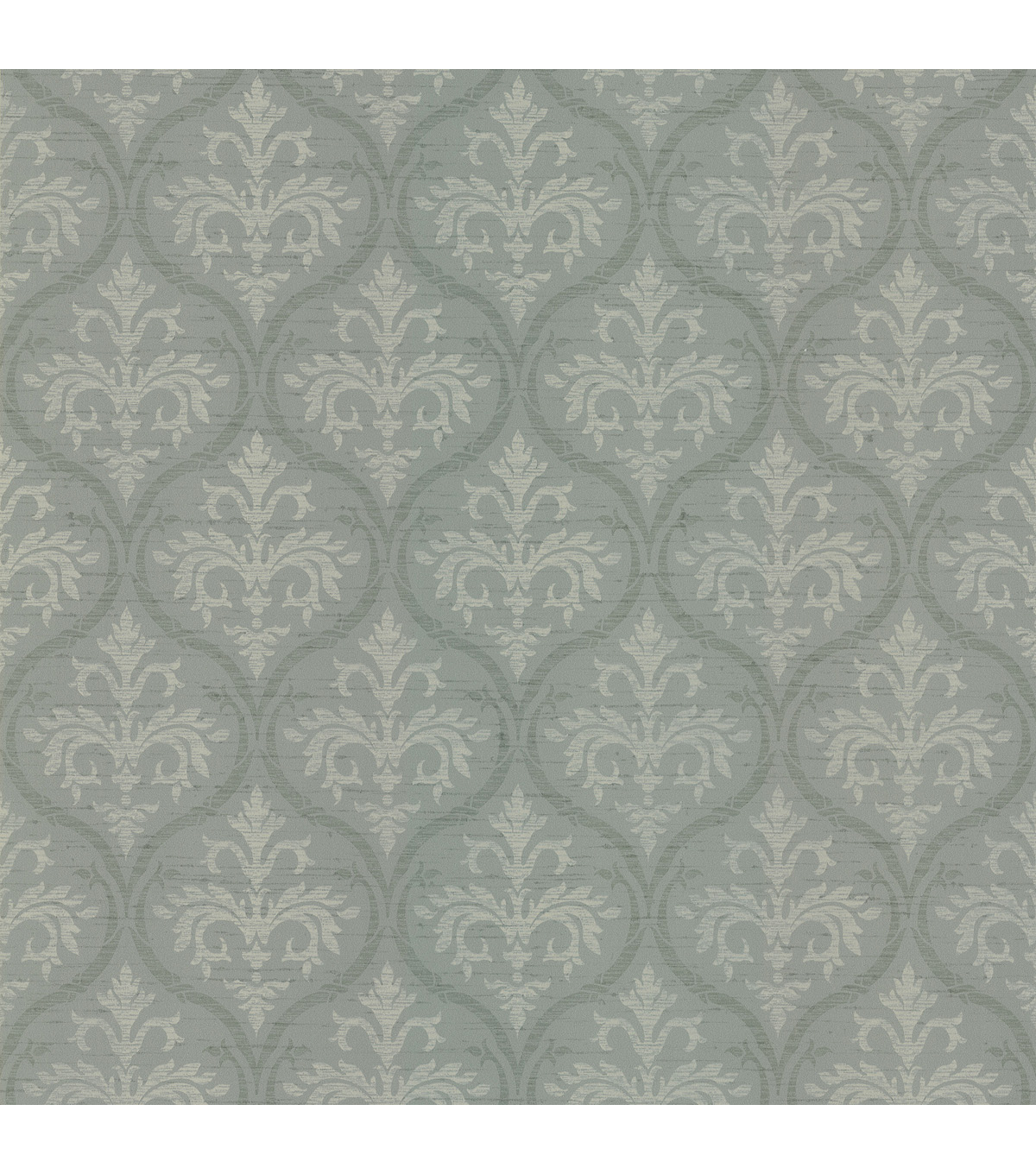 Florence Moss Ogee Damask Wallpaper