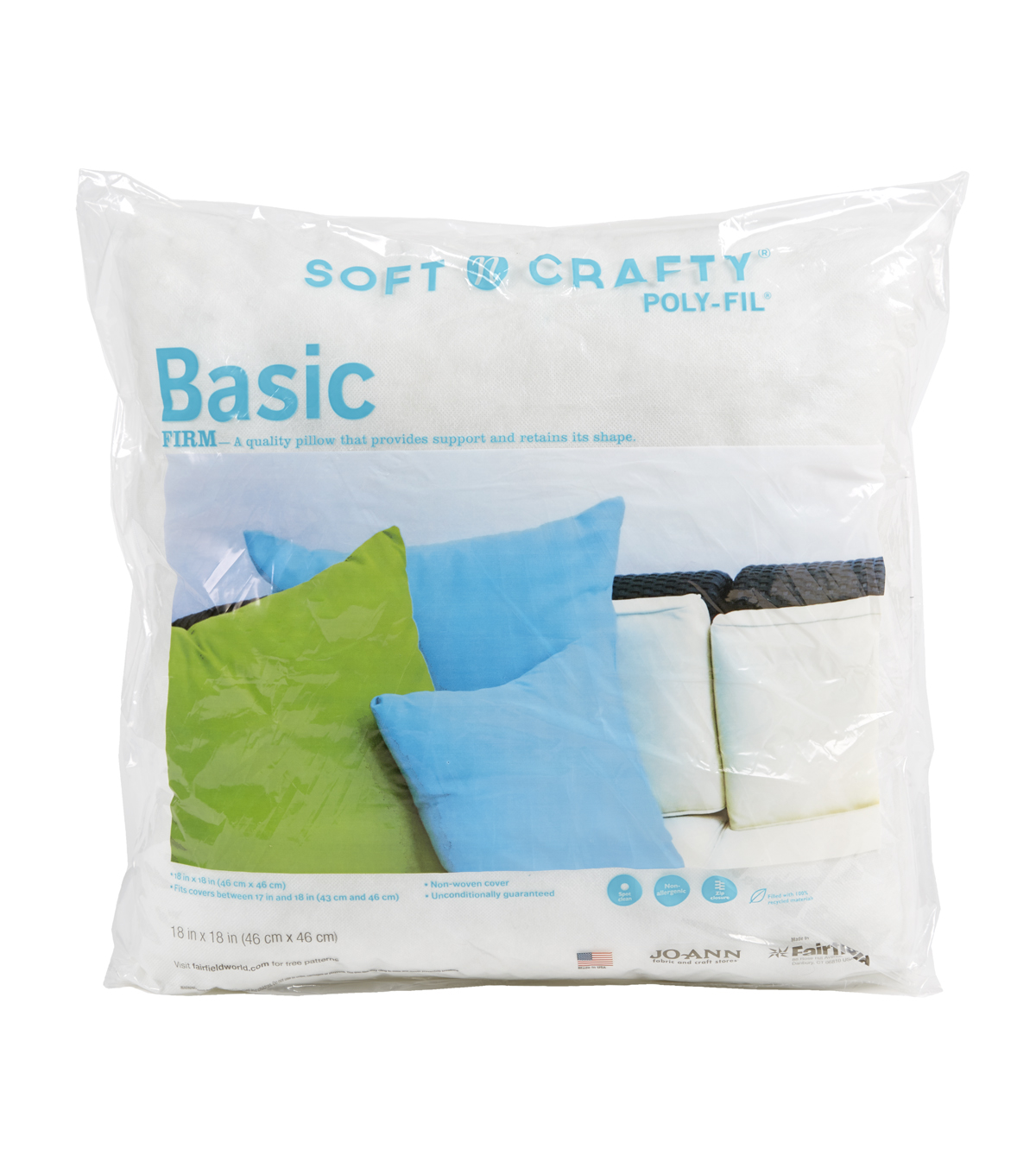 Soft N Crafty Basic 18\u0022 x 18\u0022 Pillow