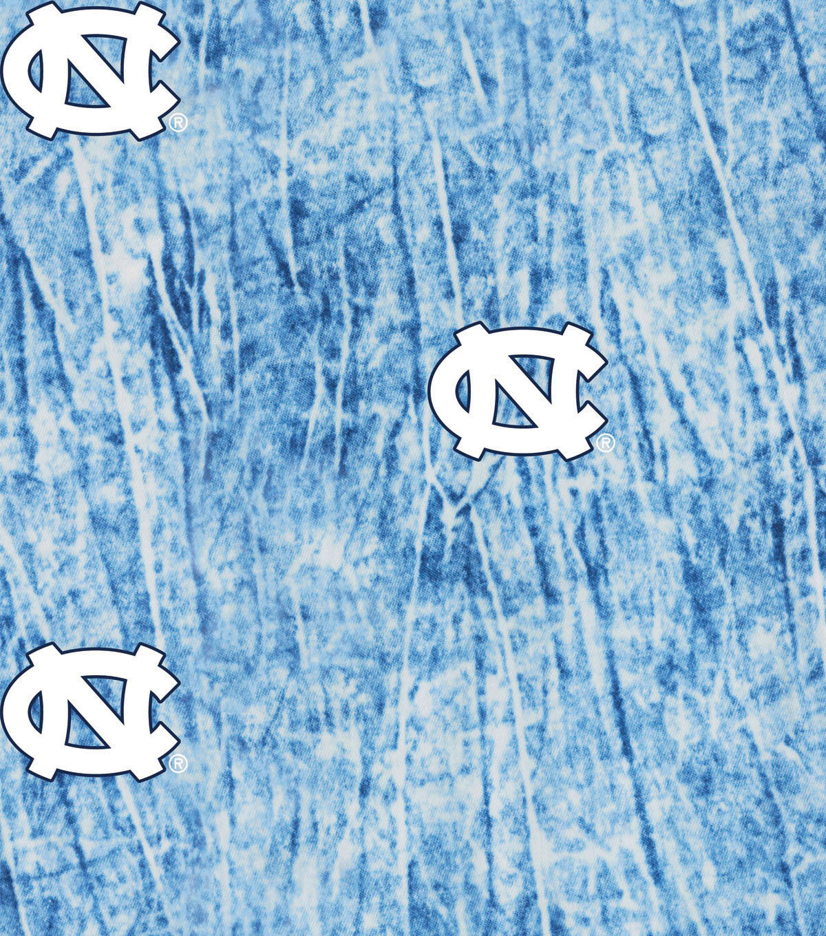 University of North Carolina Tarheels Cotton Fabric 44\u0022-Tie Dye