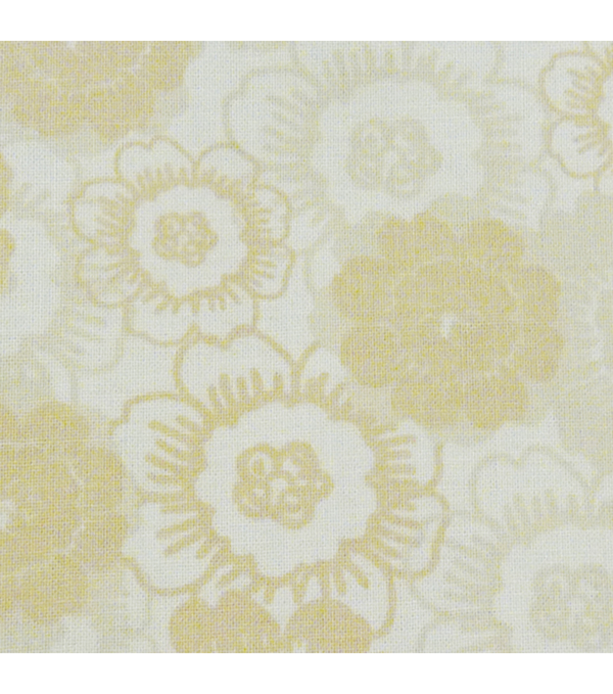 Fabric Palette 1/4yd Pre-cut Cotton Fabric-Yellow Vintage Floral
