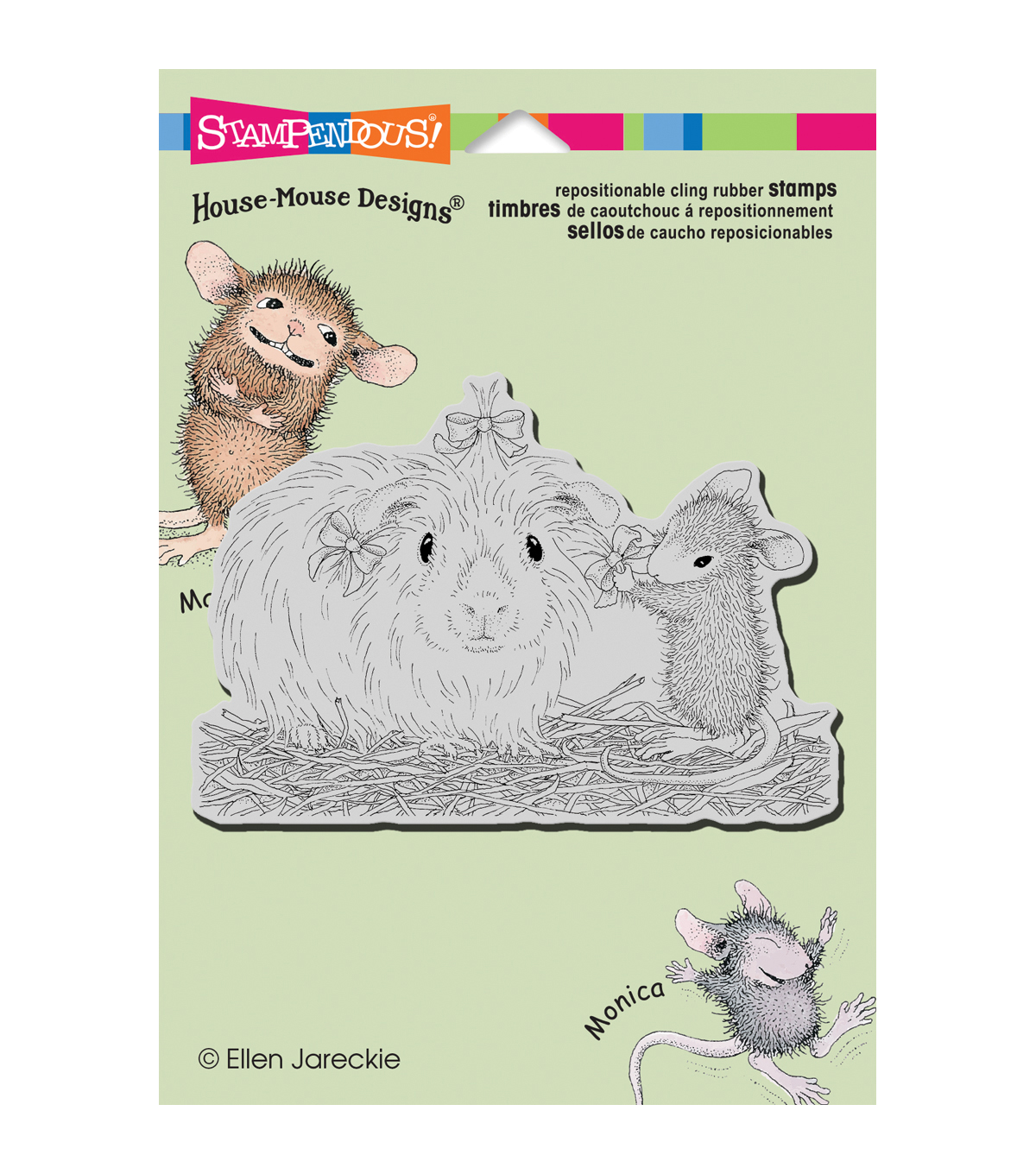 Stampendous® House Mouse Cling Stamp-Pretty Guinea
