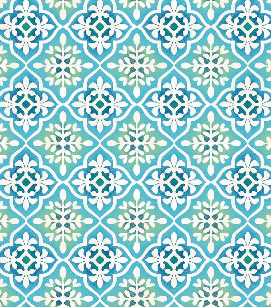 Snuggle Flannel Fabric 42\u0022-Blue Green Geo