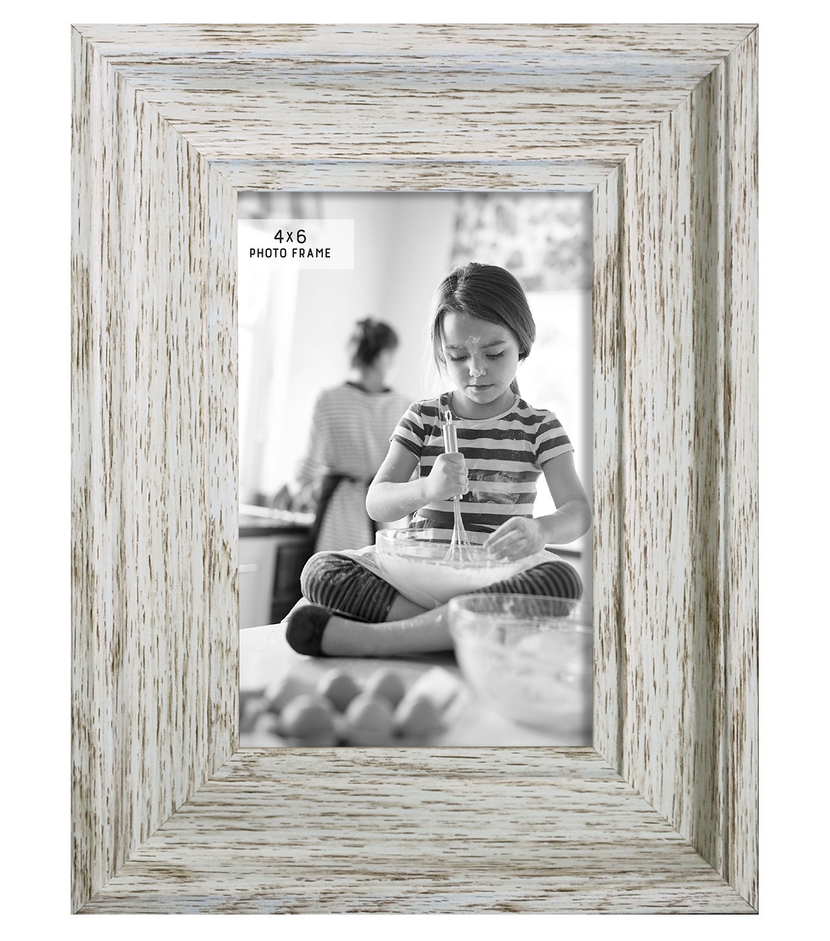 Tabletop Frame  4X6-Distressed Cream
