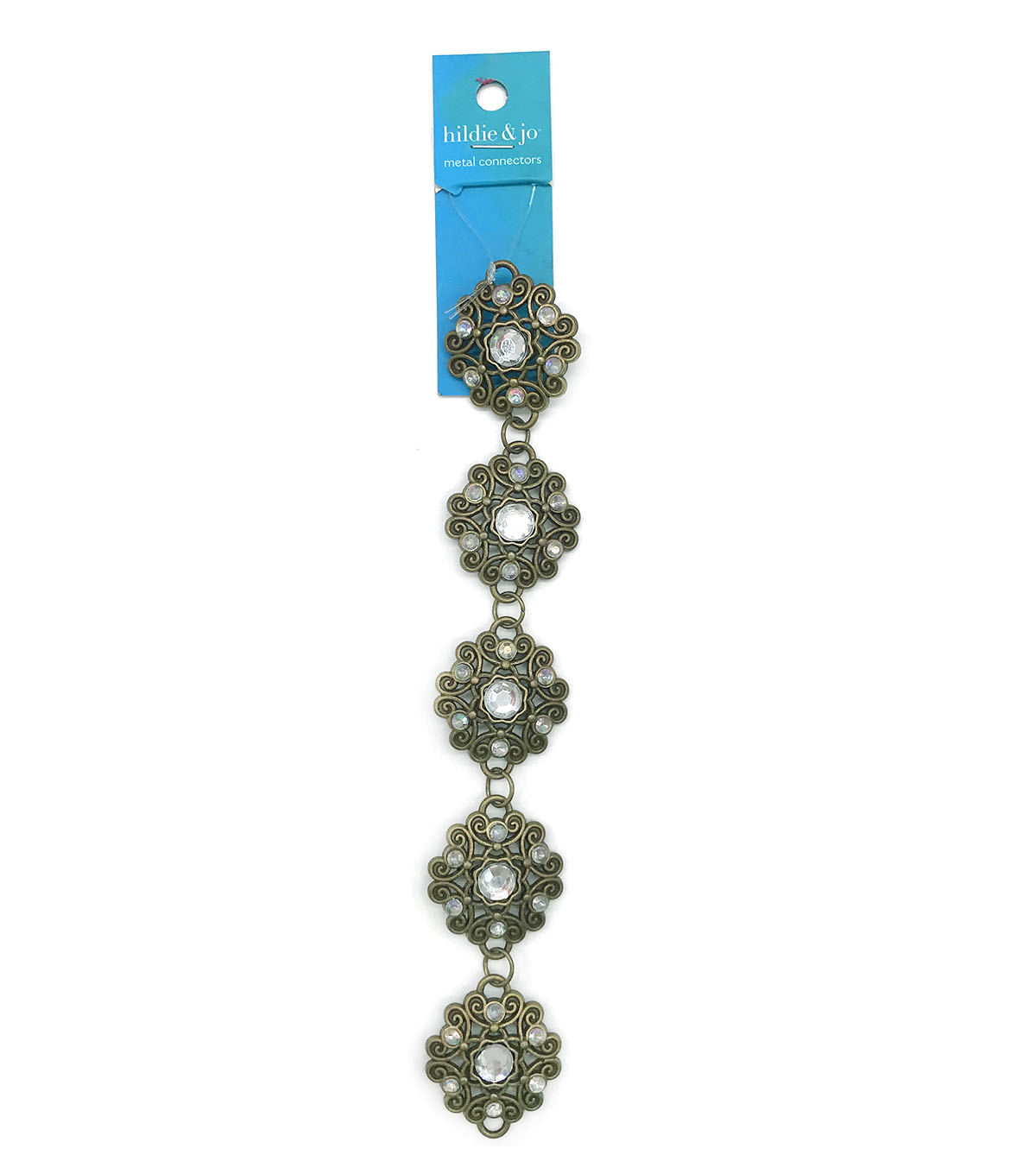 Blue Moon Beads 7\u0022 Strand Metal Connector Flower Filigree Oxidized Brass