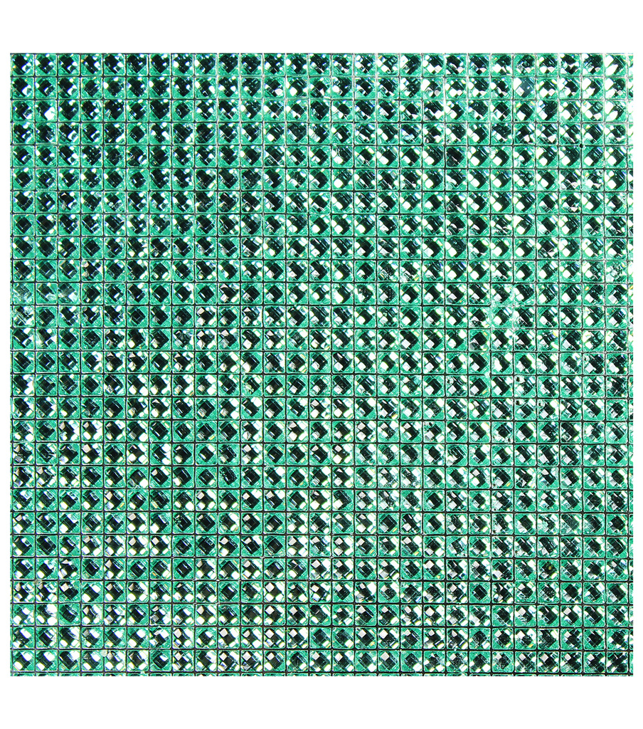 Dazzling  Resin Jewel Self Adhesive Sheet-Mint