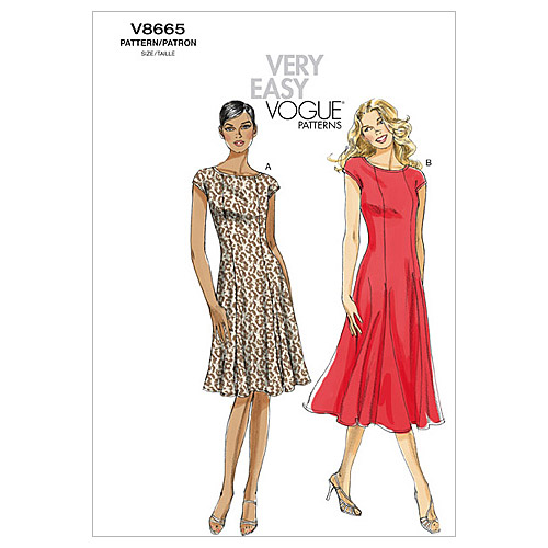 Vogue Patterns Misses Dress-V8665