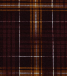 "Harvest Cotton Fabric 60""-Wide Burgundy Plaid"