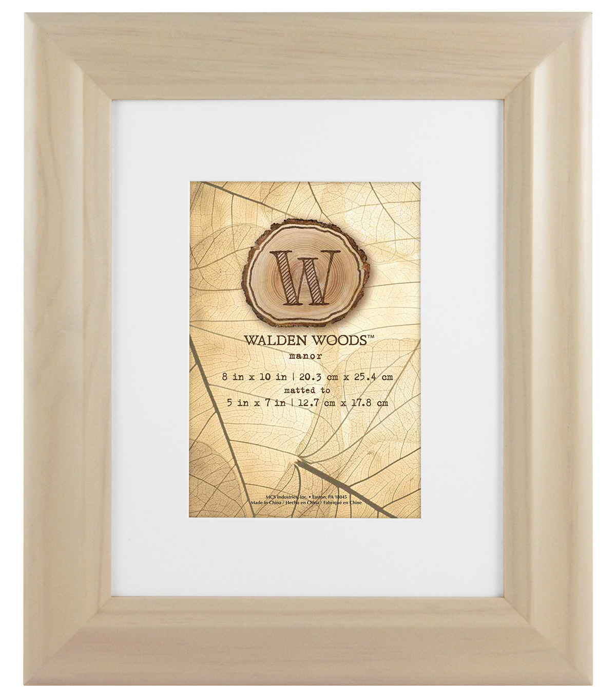 Walden Woods Wall Frame 8X10 To 5X7-White Wash