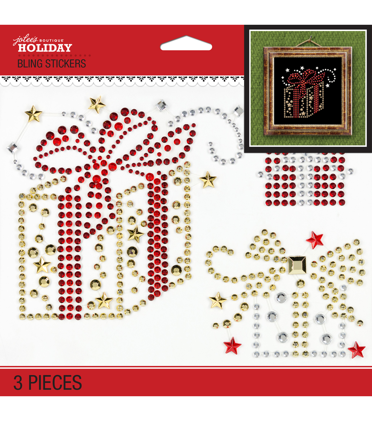 Jolee\u0027s Boutique® Holiday Bling Stickers 3pk-Holiday Gifts