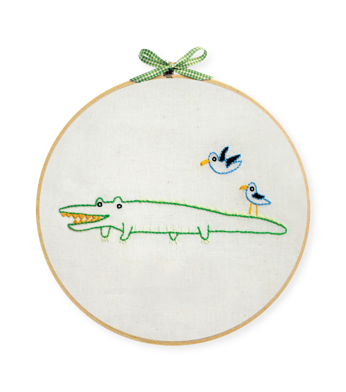 Alligator Hand Embroidery Wall Art Kit