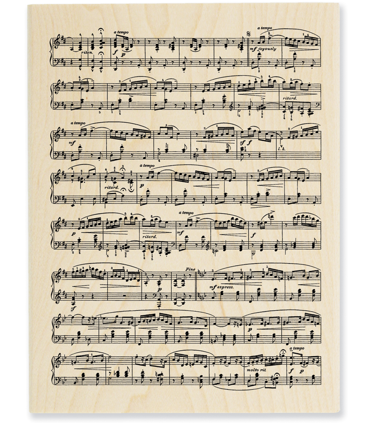 Stampendous Wood Stamp-Music Score