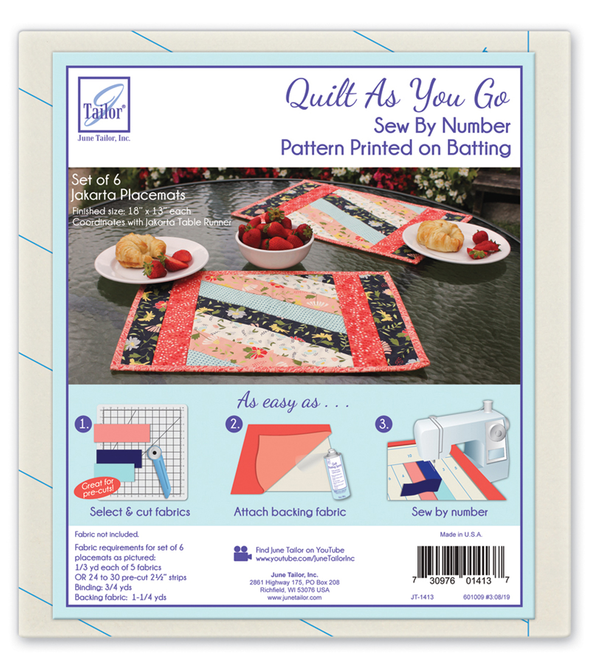 June Tailor® Quilt As You Go Batting Placemats-Jakarta