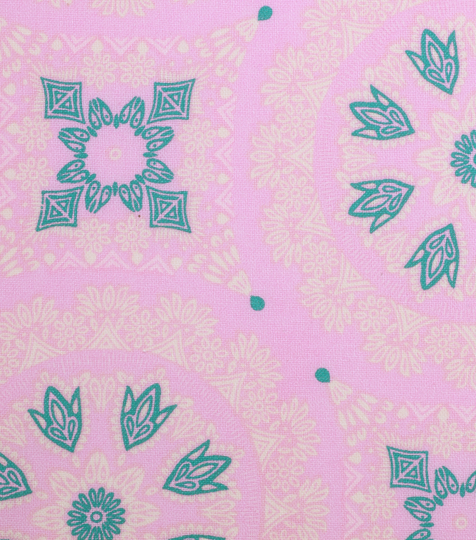 "Keepsake Calico™ Cotton Fabric 43""-Pink Medallion Geo"