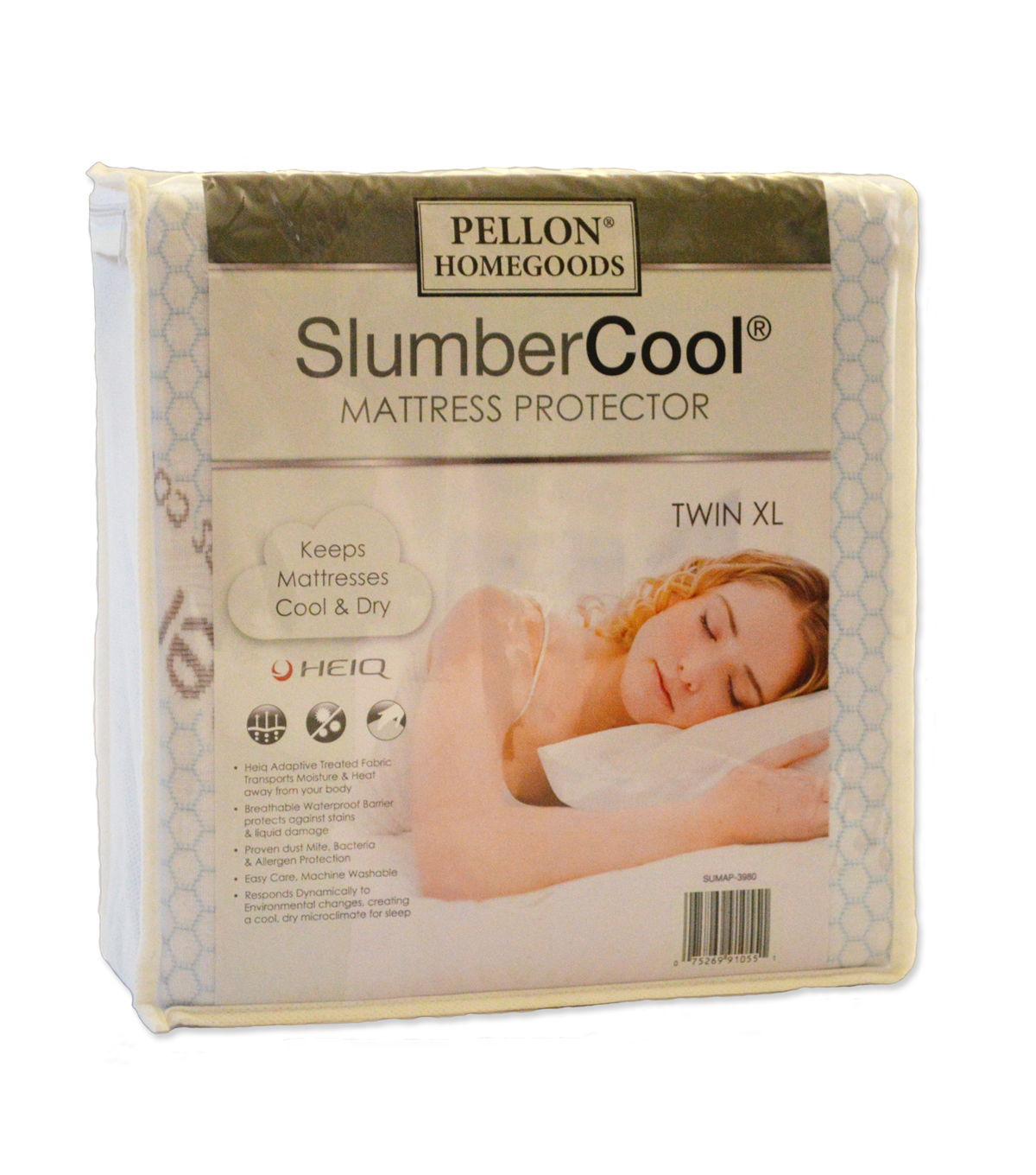 Pellon® Slumber Cool Mattress Protector Twin XL 39\u0022 X 80\u0022