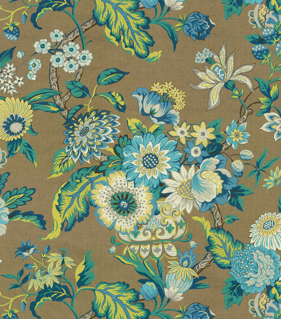 "Waverly Graceful Garden Upholstery Fabric 54""-Blue Jay"