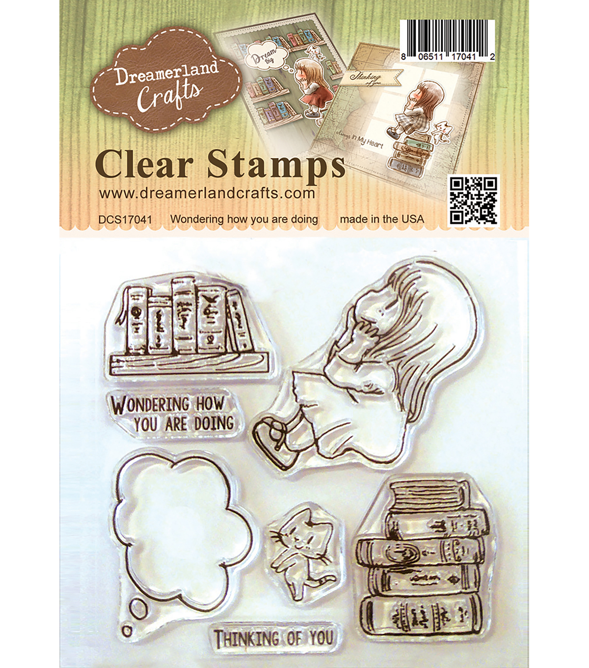 Dreamerland Crafts Clear Stamp Set 4\u0027\u0027x4\u0027\u0027-Wondering How You Are Doing