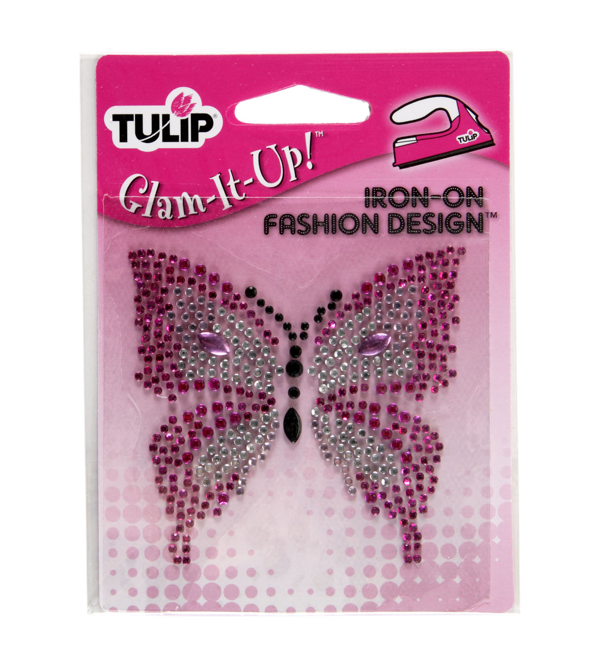 Tulip® Glam-It-Up!™ Iron-On-Pink Butterfly/Small