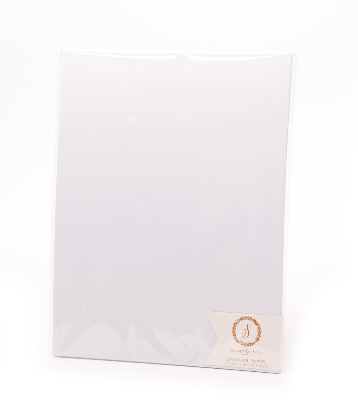 Ms. Sparkle & Co. Pack of 12 8.5\u0027\u0027x11\u0027\u0027 Shimmer Papers-White