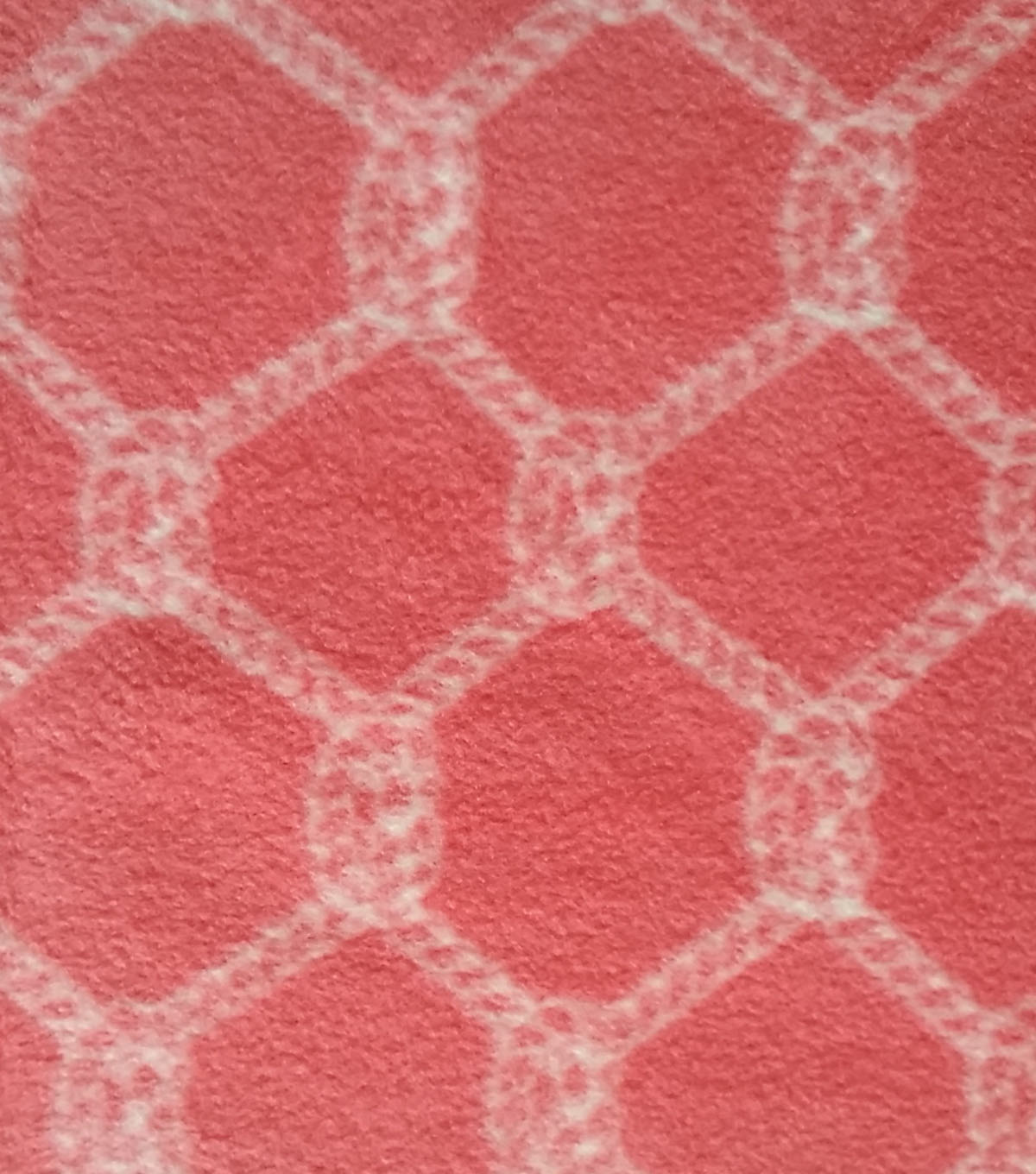 Nautical Rope Knot Fleece Fabric 59''-Coral