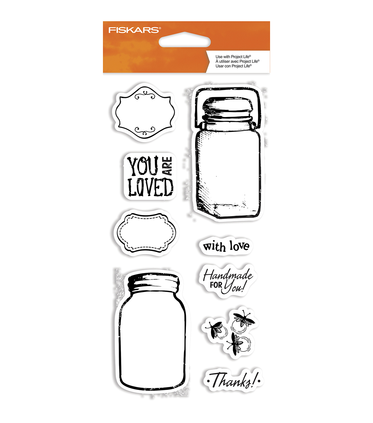 Fiskars Clear Stamps-Vintage Jars