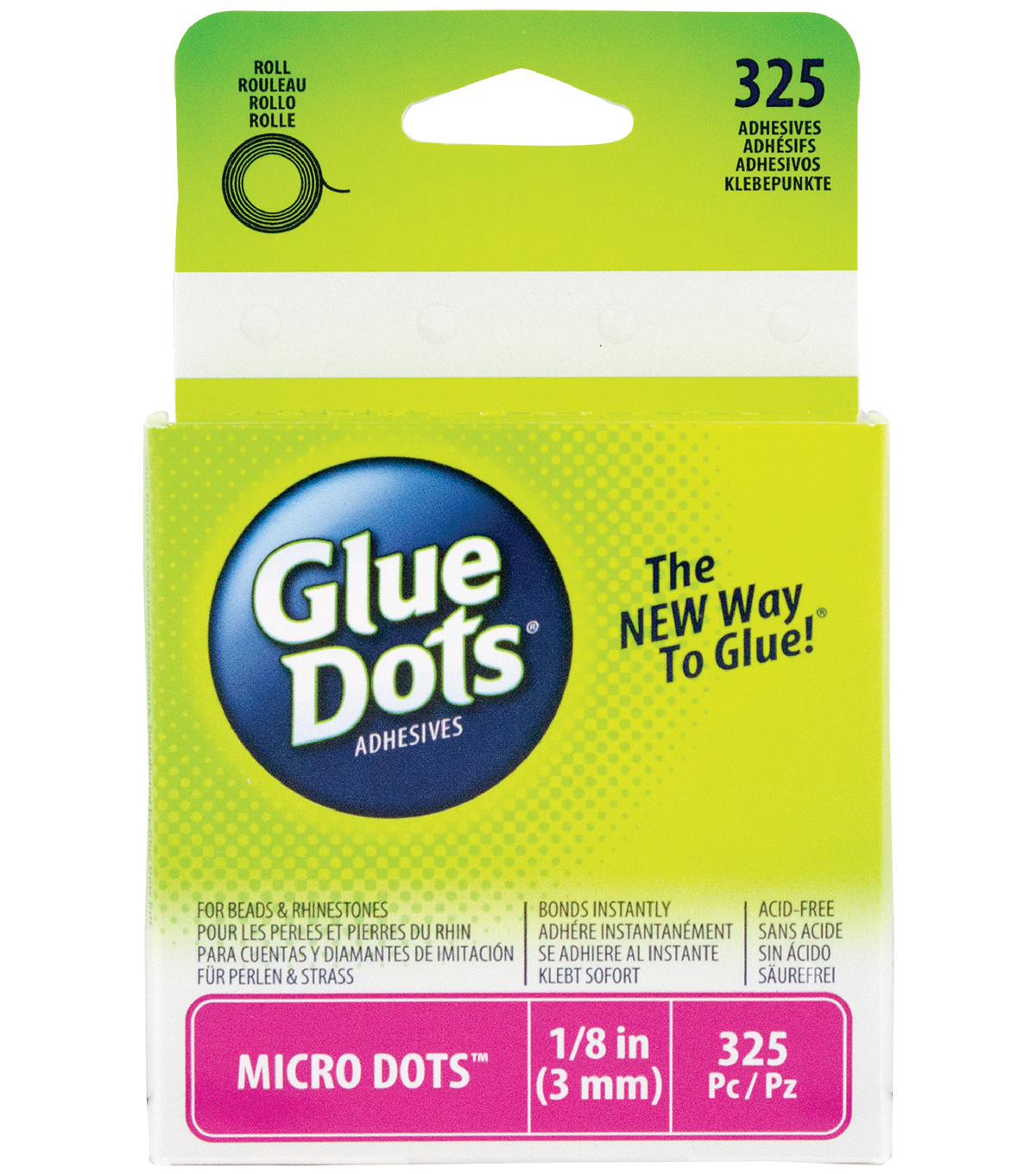 Glue Dots Micro Memory Dot Roll Clear