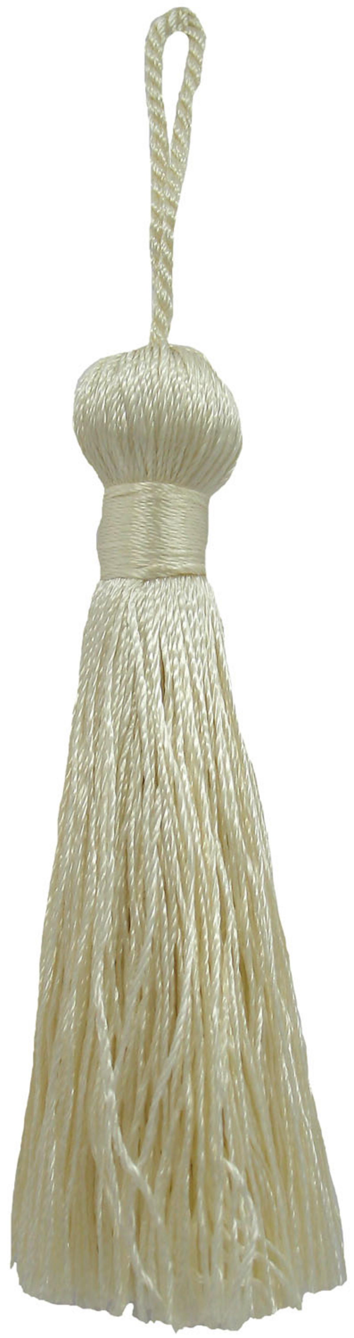 Ss 3in Oyster Rayon Bell Tassel