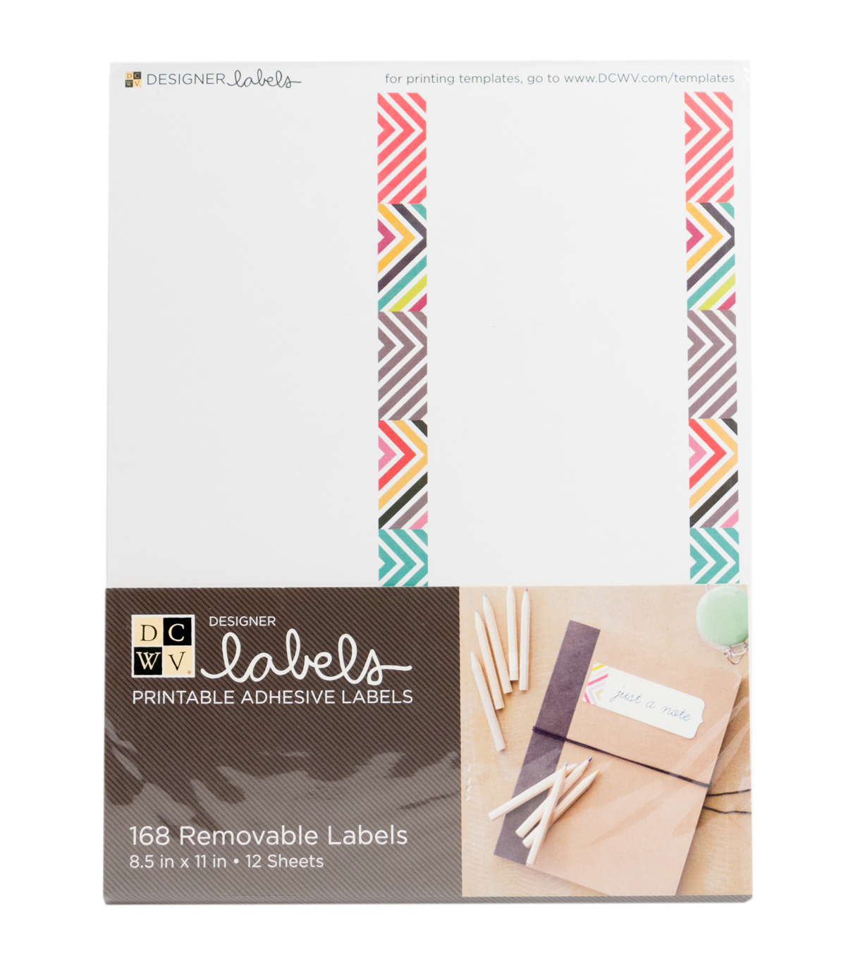DCWV Rectangle Labels with Chevron Lines