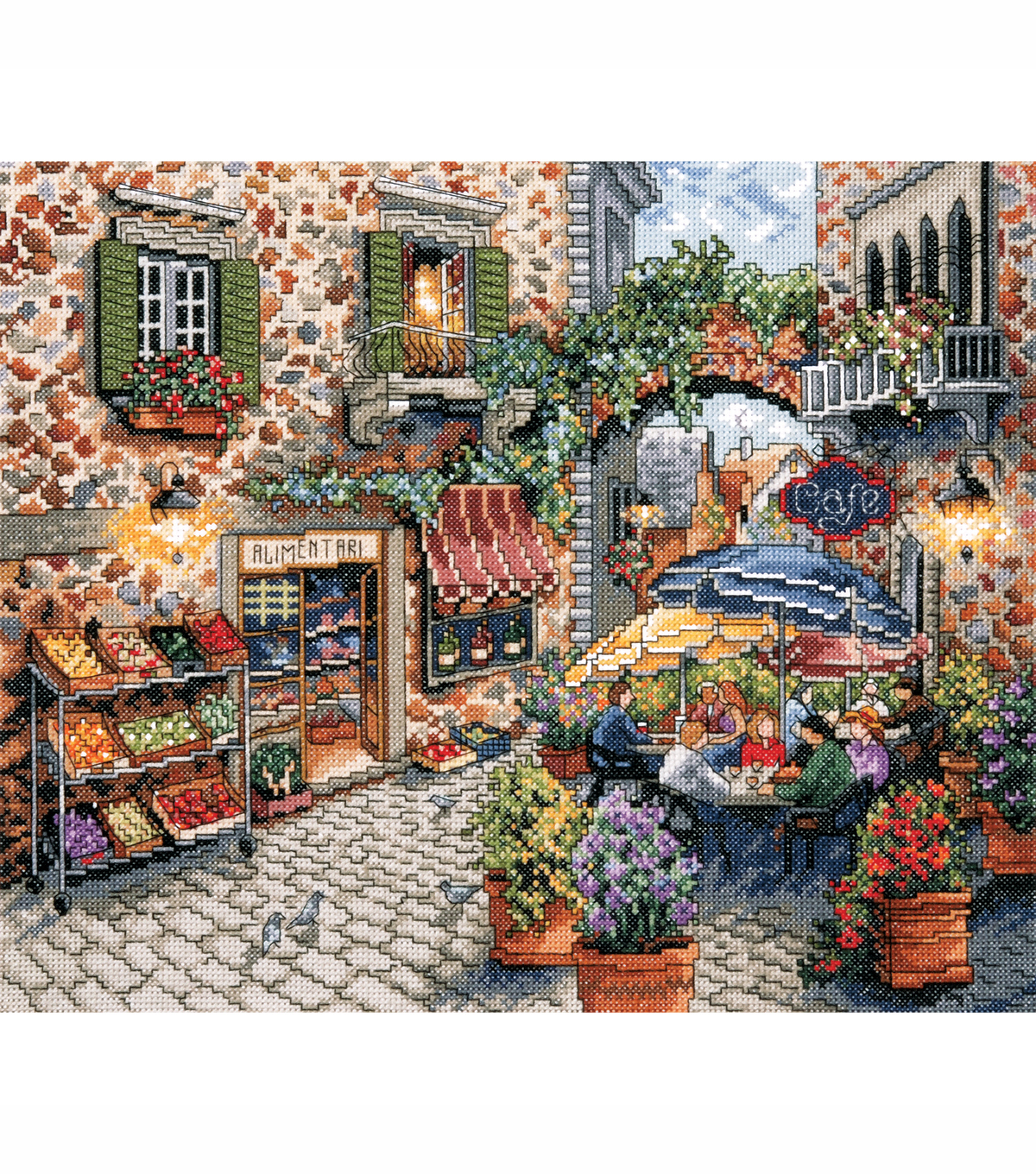 Design Works Counted Cross Stitch Picture Kit Sidewalk Café