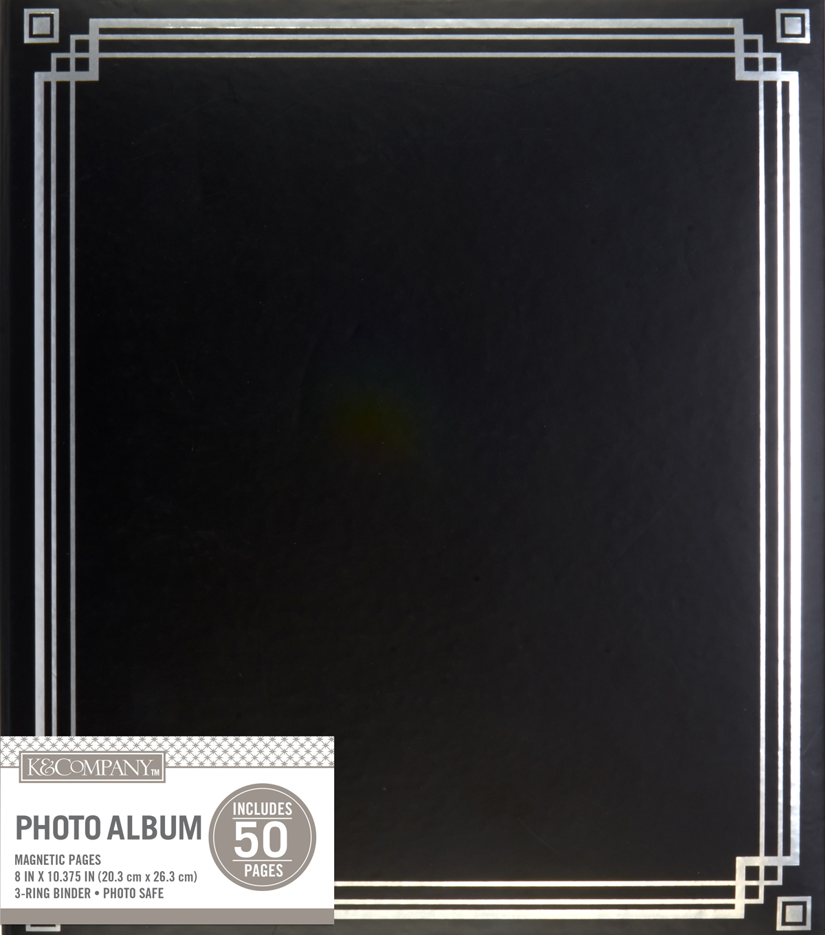 K&Company Black Library Binder Magnetic Photo Album