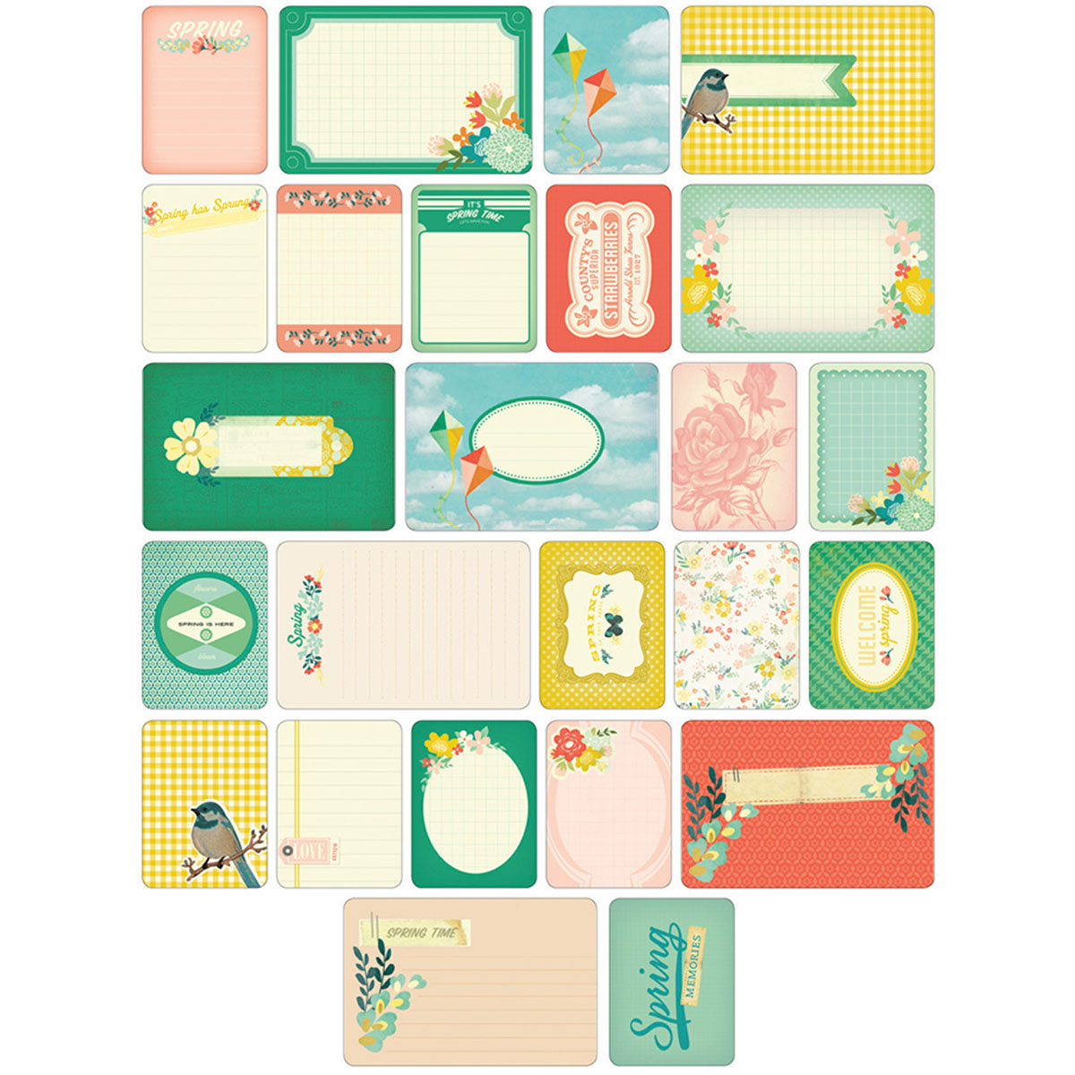 Project Life Themed Cards 60/Pkg-Spring