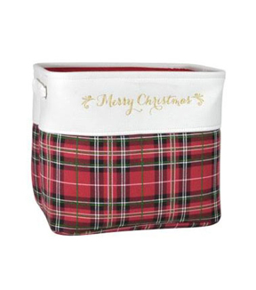 Maker\u0027s Holiday Small Soft Bin-plaid