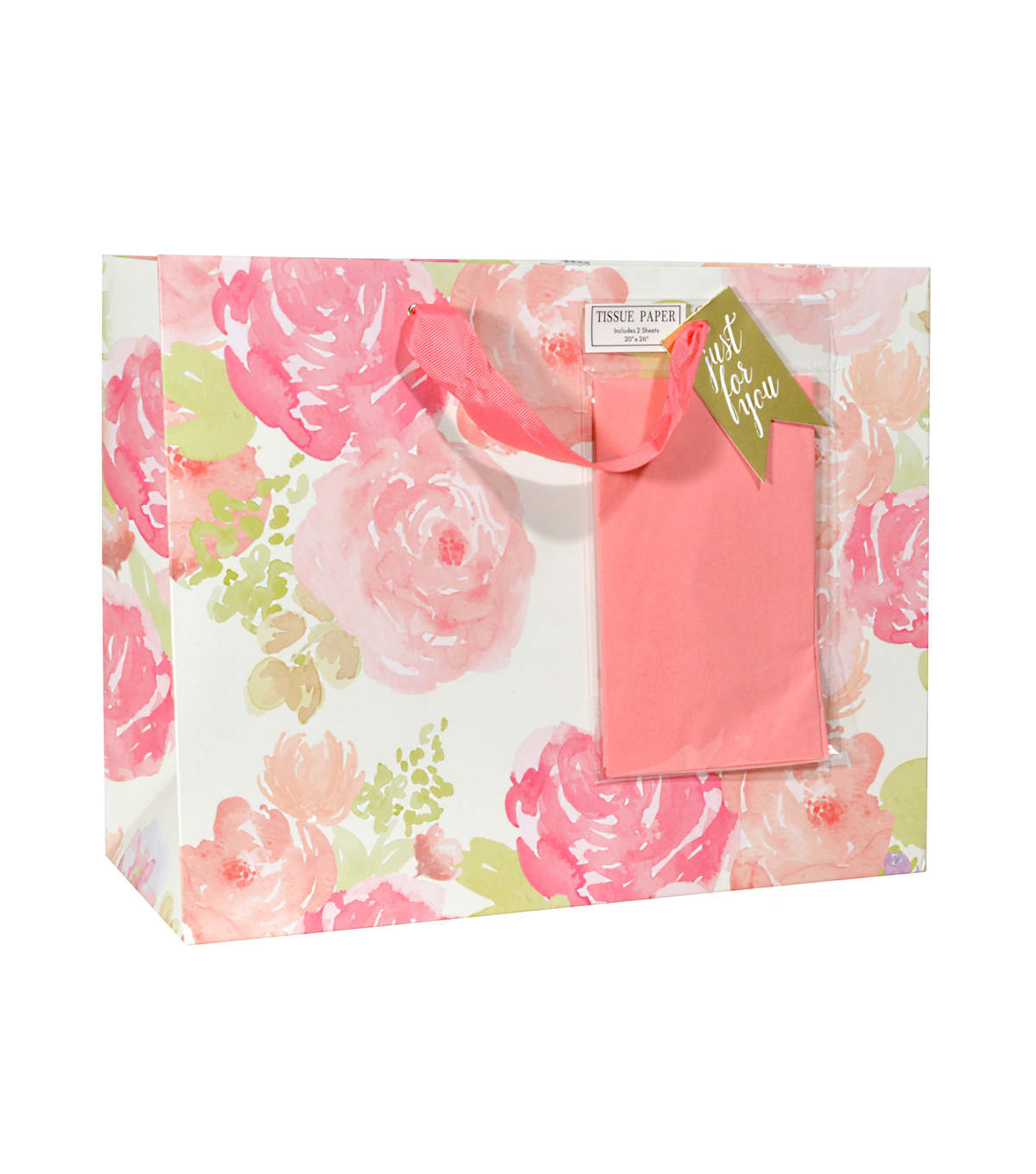Pink & White Floral Gift Bag