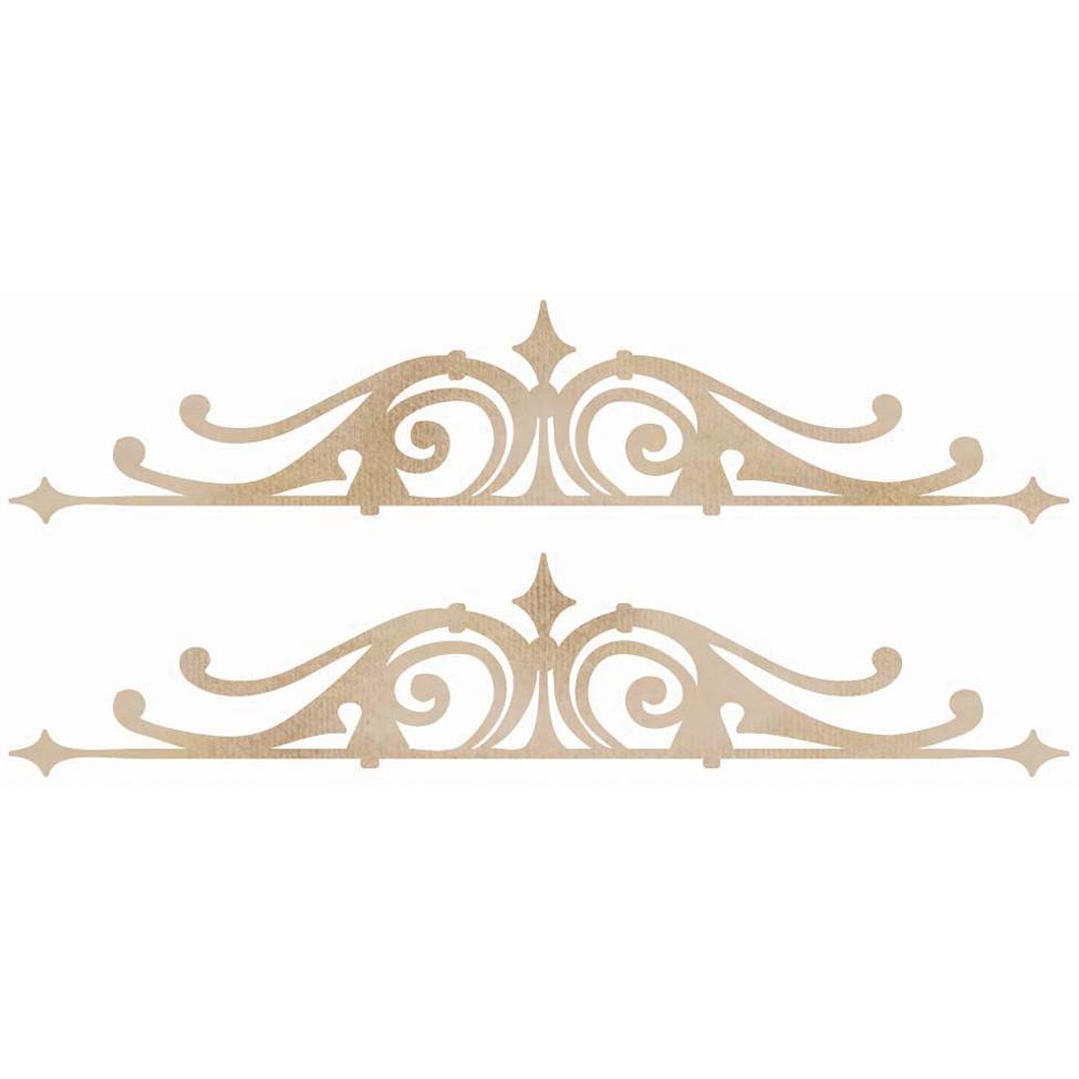 Kaisercraft Wooden Flourish Pack Ornamental Borders