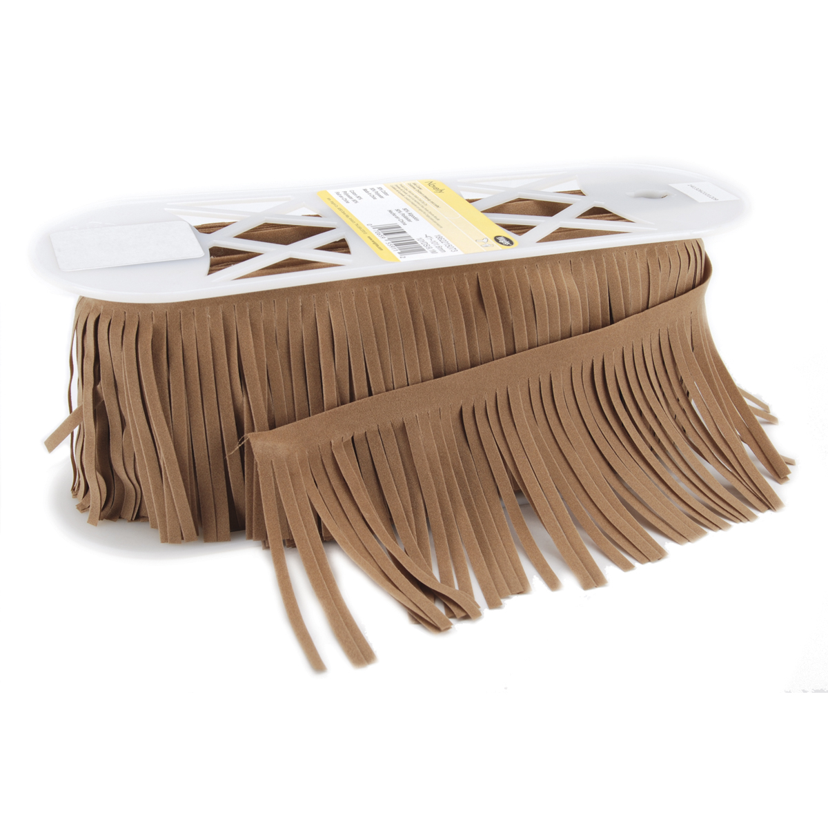 Suede Fringe 4\u0022 Wide 10 Yards-Tan