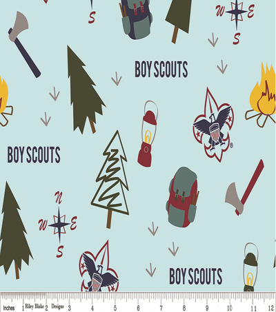 Boy Scout Cotton Fabric 43\u0022-Camps
