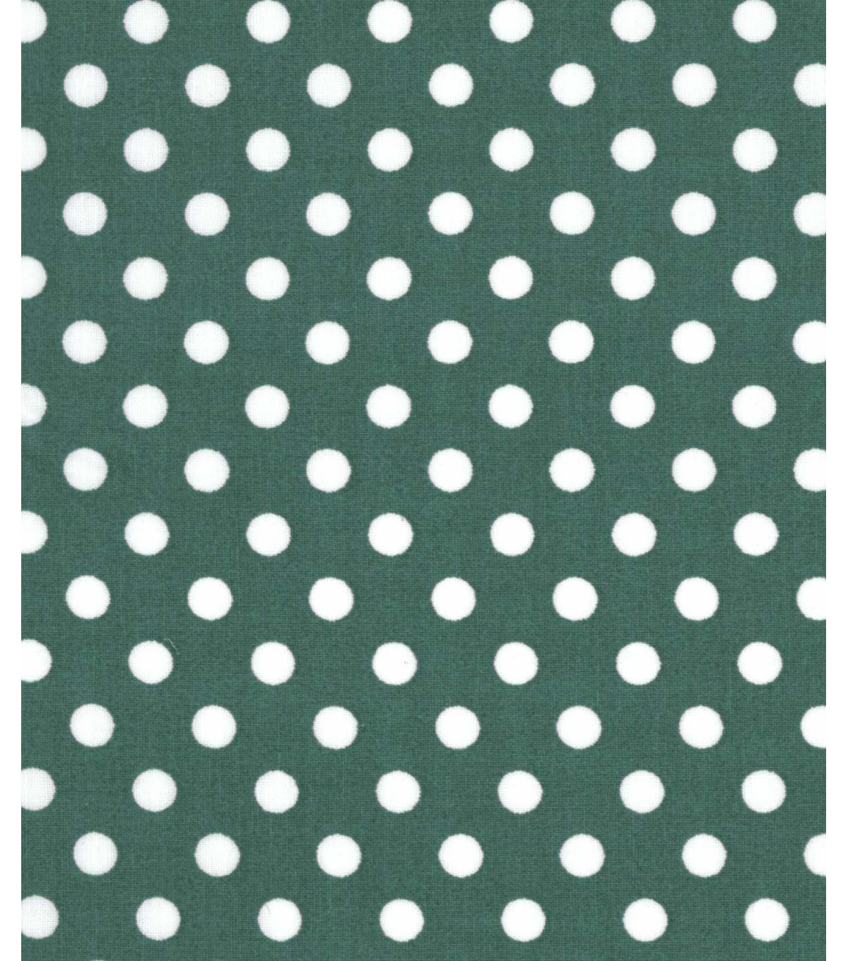 Holiday Showcase™ Christmas Cotton Fabric 43\u0027\u0027-White Dots on Green