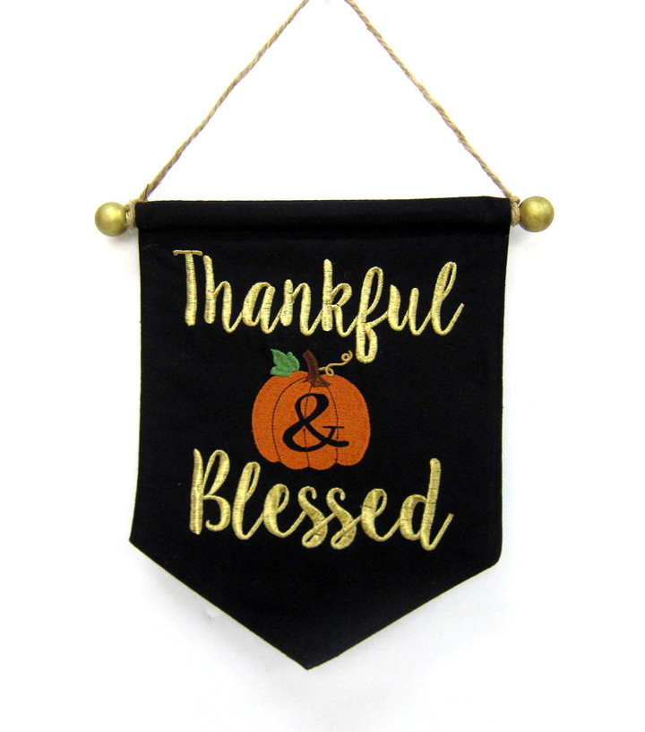 Fall Into Color Mini Banner-Thankful & Blessed