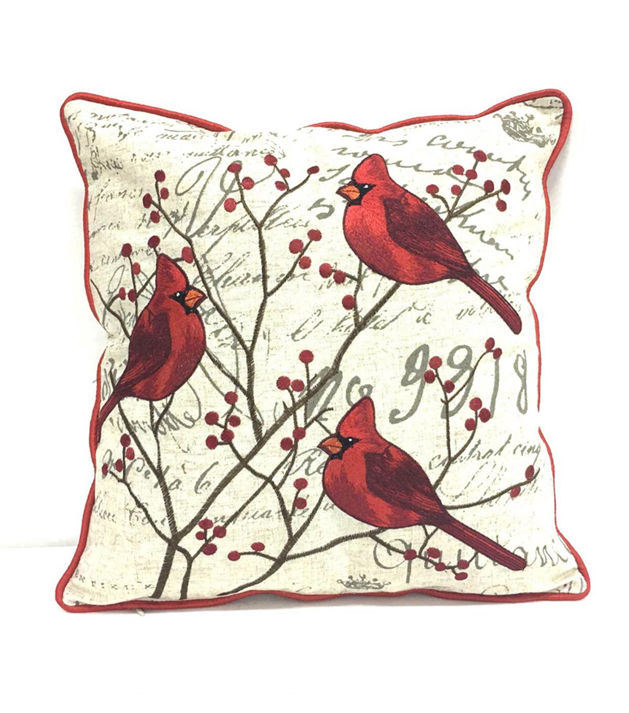 Red Cardinal Christmas Pillow - Christmas Decor   JOANN