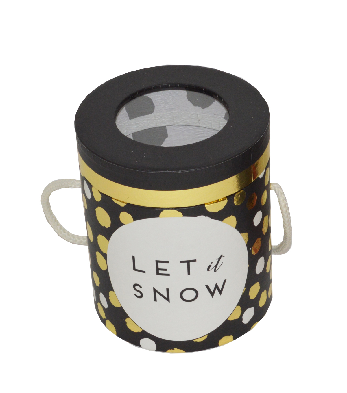 Maker\u0027s Holiday Cylindrical Storage Container-Let It Snow